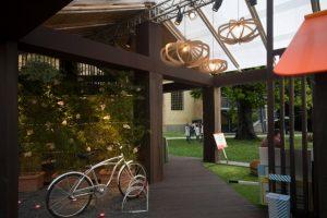 L'eco-padiglione interamente realizzato con prodotti riciclati