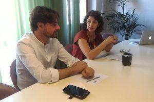 Il sindaco Giulio Mangani e l'assessore alla Pubblica istruzione Cinzia Farina