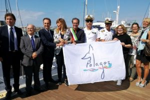 Un momento della cerimonia a Marina di Pisa (foto Arpat)