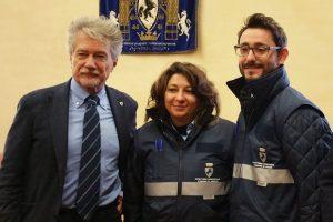 A sinistra il sindaco di Arezzo Alessandro Ghinelli