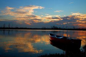 Tramonto sul lago di Massaciuccoli (foto di Pietro Fadda)