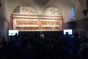Il refettorio dell'Abbazia con il Cenacolo del Ghirlandaio (foto Enel)