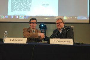 Simone Orlandini dell'Accademia dei Georgofili e Paolo Carnemolla di FederBio