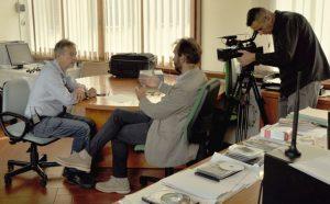 Riccardo Iacona intervista il presidente del parco Luca Santini