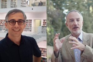 Da sinistra: Piero Martin e Stefano Mancuso. (Foto da Comune di Poggibonsi).