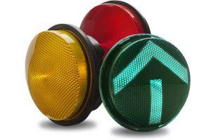 Traffic light three-color / LED