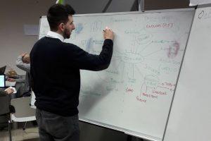 Uno studente al lavoro sul progetto 4.0