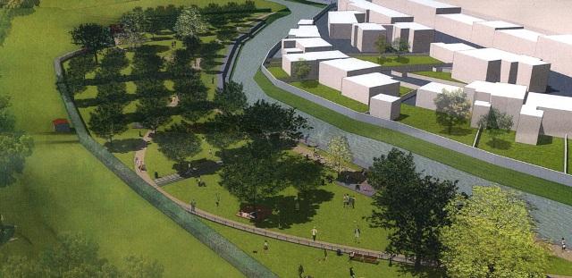 Rendering del nuovo parco urbano di Grassina (da Comune di Bagno a Ripoli)