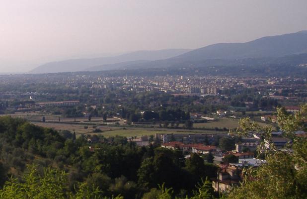 Bagno a Ripoli dalla collina di Baroncelli. (Foto da it.wikipedia.org/wiki/Bagno_a_Ripoli).