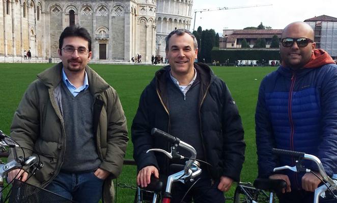 Da sinistra Andrea Michel, Paolo Nepa e Vittorio Franchina. (Foto da Università di Pisa).