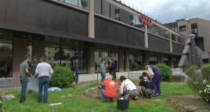L'inizio dei lavori nella Terza Piazza