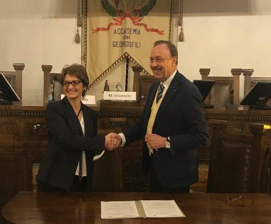 Carla Brienza e Massimo Vincenzini (foto Accademia dei Georgofili)
