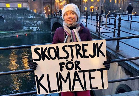 Greta Thunberg. Foto da www.facebook.com/gretathunbergsweden/