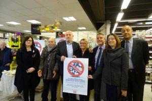La conferenza stampa al supermercato Unicoop di Castiglione della Pescaia