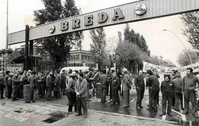 Operai Breda negli anni '70 (Foto da Arci Pistoia)