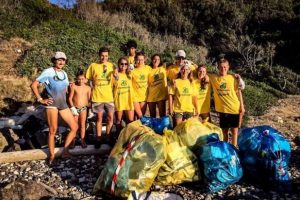 L'edizione 2018 di Spiagge pulite (foto Legambiente)