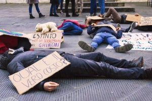 Manifestazione a Pisa (dalla pagina di Fridaysforfuture Pisa)