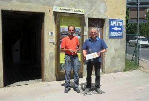 Il fisico del CNR Massimo Del Guasta e Daniele Manetti