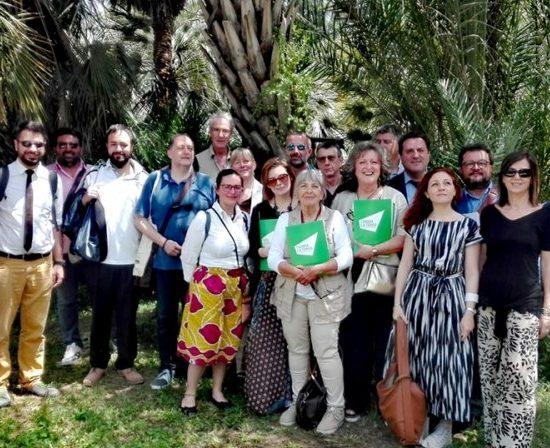 """Orto Botanico di Roma, 12 giugno: foto di gruppo dei partecipanti al convegno """"Liberi dai pesticidi"""""""