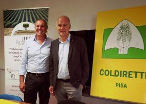 Claudio Cantini e Fabrizio Filippi (foto Coldiretti Pisa)