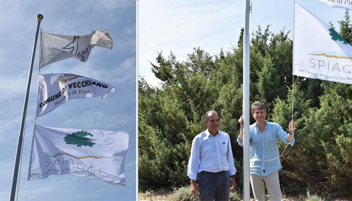 Da sinistra Giovanni Maffei Cardellini e il sindaco di Vecchiano Massimiliano Angori. (Foto da Parco MSRM).