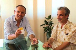 Il sindaco Luca Menesini e Rossano Ercolini