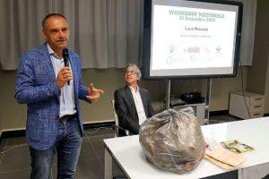 Il sindaco Luca Menesini e Rossano Ercolini durante il wokshop di sabato