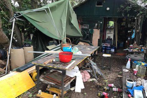 I danni ai capanni e alle attrezzature