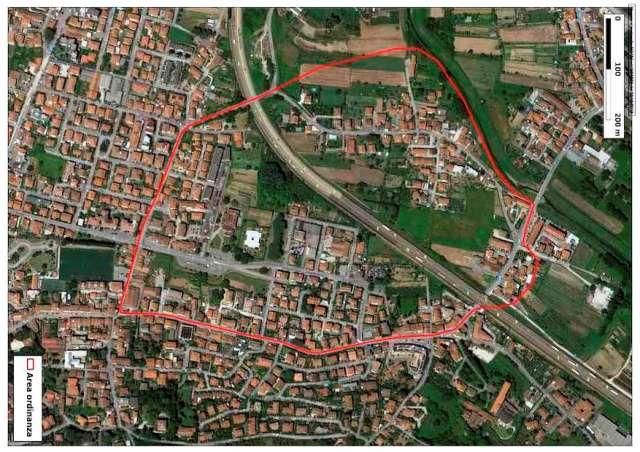 L'area di Monsummano Terme che sarà oggetto di indagine (foto Arpat)