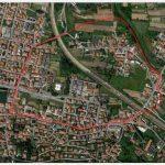 Veduta aerea della zona sottoposta a indagine (foto ARPAT)