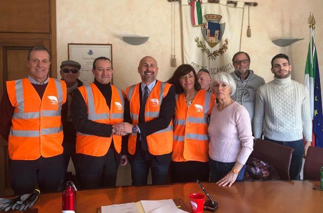 La firma del protocollo tra la Fondazione Angeli del Bello e il Comune di Scandicci