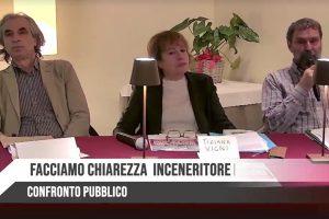 Da sinistra Rossano Ercolini, Tiziana Vigni e Marco Arduini al confronto pubblico del 31 gennaio 2020.