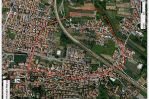 Veduta aerea della zona oggetto dell'indagine (foto ARPAT)