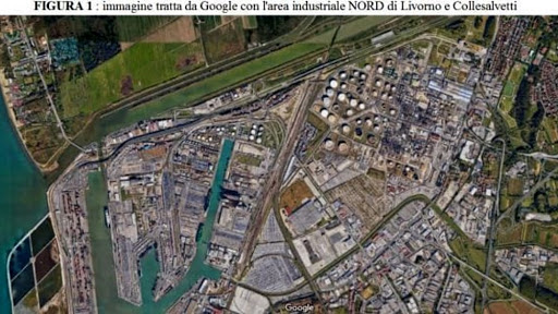 Area industriale Livorno-Collesalvetti (immagine Arpat)