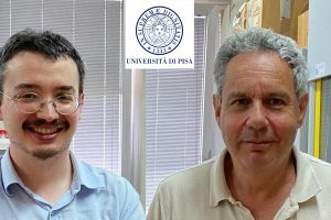 Da sinistra Joachim Langeneck e Claudio Lardicci (Foto Università di Pisa)