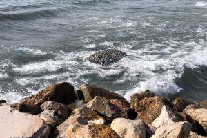 Un'ecoballa affiorata lo scorso anno (foto Comune di Piombino)
