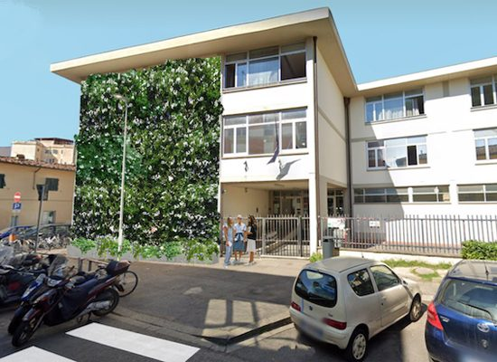 Giardini verticali, pareti veerdi, Firenze, Toscana, ambiente