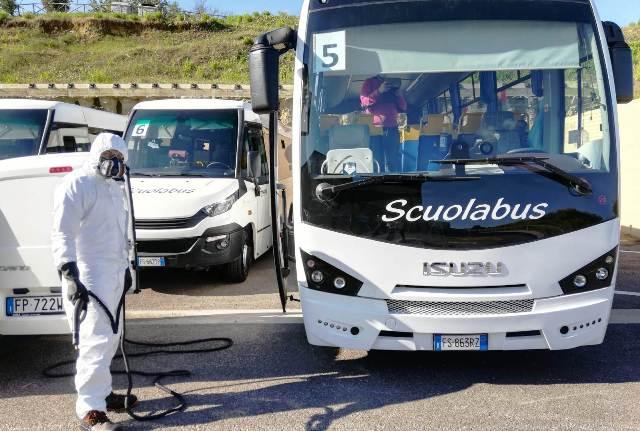 Barberino Tavarnelle sanificazione scuolabus