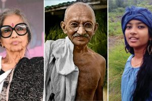 Tara Gandhi, Mahatma Gandhi e Naina Febin. Toscana Ambiente