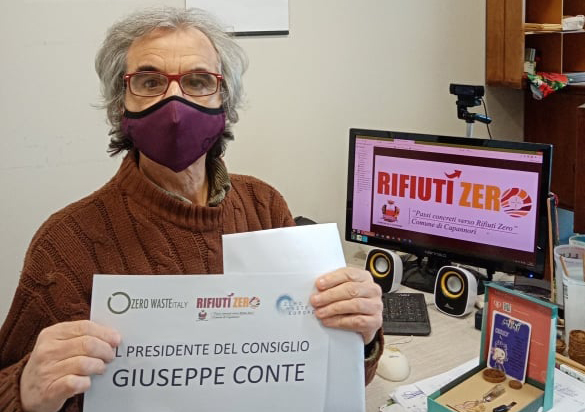 Rossano Ercolini del Centro Rifiuti di Capannori, mascheine ecologiche e lavabili, Toscana ambiente.