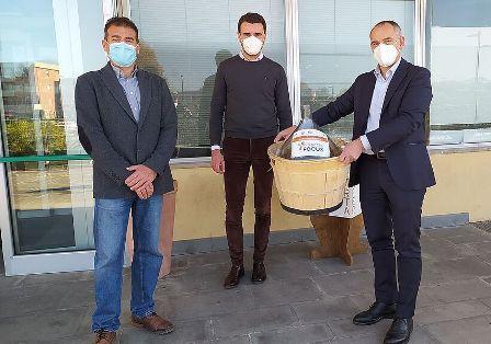 Da sinistra, Lorenzo Guglielminetti dell'Università di Pisa, l'assessore Giordano Del Chiaro e il sindaco Luca Menesini.