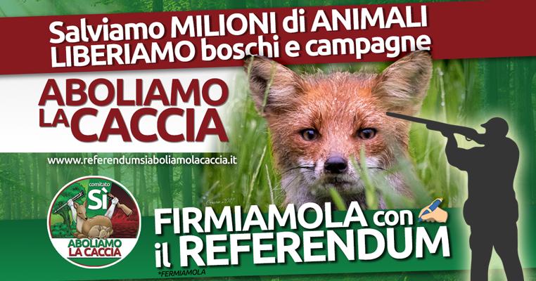 Prorogata anche in Toscana la raccolta firme per il referendum abrogativo della caccia