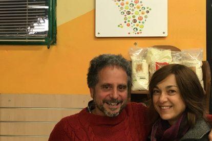 Marco Bignardi, coordinatore di Toscana Biologica, con Daria Bignardi